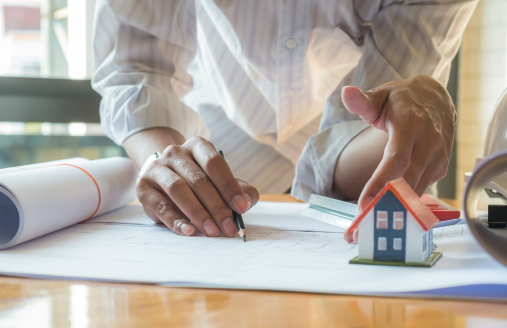 House designers are checking home designs to offer customers.